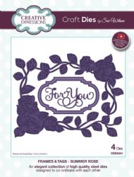 CED4341 Creative Expressions Dies by Sue Wilson Frames & Tags Collection - Summer Rose